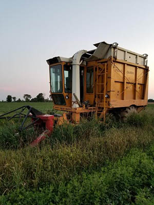 Field Queen harvester for salvage.